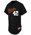 42-LAGMAY-42 - Custom Heat Pressed Orioles Full Button Baseball Jersey - Adult EFD1122DF2BB