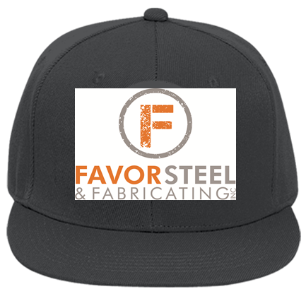 favor - Custom Embroidered Flat Bill Fitted Hats 123-969