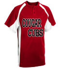 COUGAR-CUBS-AUSTIN-00 - Custom Heat Pressed Youth Line Drive 2-Button Baseball Jersey - 1200P 8DC0052FD90A