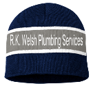 R.K. Welsh Plumbing Services  - Custom Heat Pressed Striped Beanie - SP06 345B85692E96