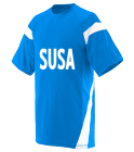 SUSAGenrich12 DISCONTINUED Adult Two Color Block Crew Neck Jersey  - 1610