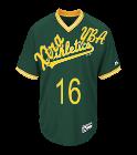 YBAXtra16XtraLoudRich-16 Custom Athletics Two-Button Jersey - Athletics-MAI383