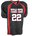 TEXAS TECH-22-GEE-22 - Custom Heat Pressed Youth  Pro-Fit Steelmesh Football Jersey - Teamwork Athletic - 1313 9D9264F2BAB4