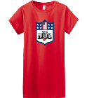 Team Militia 2 - Custom Heat Pressed Womens Junior Shirts & Tees Gildan® Ladies SoftStyle™ Cotton T-Shirt B7CAA406A87F