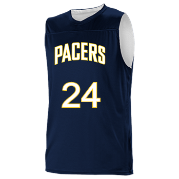detailed pictures 727bc 3ceaf 12-Rayner-24 - Custom Embroidered Indiana Pacers Youth Reversible  Basketball Jerseys - A105LY-PACERS Youth Small