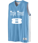Triple Threat-Chapman-8-8 - Custom Heat Pressed Youth Basketball Jerseys & Uniforms Reversible - 756 9328212A55C9