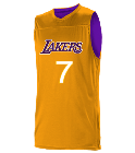 Mike Logan Los Angeles Lakers Youth Reversible Basketball Jerseys - A105LY-LAKERS