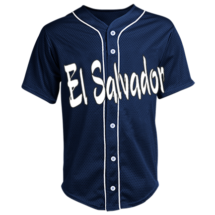 ffadd50bf El Salvador - Custom Heat Pressed Adult Full Button Baseball Jersey - N4184  S C63341B0EB21A