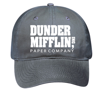 Dunder Mifflin Dad Hat - Custom Embroidered Low Pro Style Hat - 18-010  572773CA5295 797c1a88dea