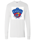 ku 5 time champs - Custom Heat Pressed Hanes Longsleeve T-shirt 5286 DE944AB103D3