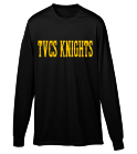 KNIGHTS - Custom Heat Pressed Youth Crewneck Longsleeve  - 789 522C07AB03A7