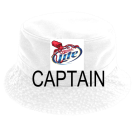 CAPTAIN - Custom Heat Pressed Short Brim Custom Bucket Hats - 961 1B073F10B9F5