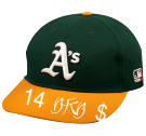 14-BKB- 14 BKB  Oakland A's Official MLB Hat for Little Kids Leagues OCMLB300