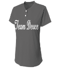 Team Deuce - Custom Heat Pressed Two Button Softball Jersey - Girls Tek - NG3143 1898AD0F64BD