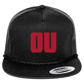 OU - Custom Heat Pressed Classic Poplin Golf Mesh Trucker Hat - 6003  93664F9D9418 4febfcef2e9