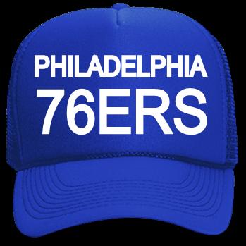 PHILADELPHIA -76ERS - Custom Screen Printed Neon Trucker Hat  c6f4be86fb9