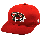 Fish - Custom Heat Pressed Arizona Diamondbacks - Official MLB Hat for little kids leagues BFEDB413099F