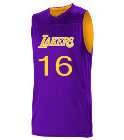 16XtraLoudRich-16 Logan Los Angeles Lakers Youth Reversible Basketball Jerseys - A105LY-LAKERS