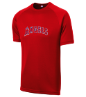 Angels Coach - Custom Heat Pressed Angels Adult MLB Replica T-Shirt - 5300 993A4D271E95