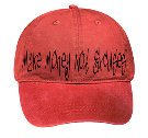 red Make Money Not Excuses-M2N3 - Custom Heat Pressed Low Pro Style Otto Cap 18-202 30B5103A4153