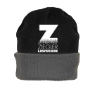 Ziegler LawnCare Hat - Custom Heat Pressed Knit Two Colored Beanie - R19 88FCA3258824