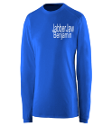 Benjamin - Captain -JabberJaw-Shark 24  - Custom Heat Pressed Augusta Exa Long Sleeve Crew Shirt - 1080 B0A31DECA226