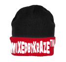 MIXEDBYKRAZE™ - Custom Embroidered Knit Two Colored Beanie - R19 F1D3A9B90199