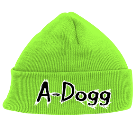 A-Dogg - Custom Heat Pressed Neon Beanie - 813 489B33F38844