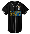 'Ronas - Custom Heat Pressed Adult Full Button Wicking Mesh Jersey  - 593 73F07A3164BE