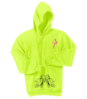 IN PARADISE - Custom Heat Pressed Neon Hoodie Port & Company -PC90H 8604900D46B3