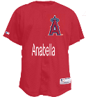 Anabella WILSON7 Angels Official MLB Full Button Youth Jersey - MAHD684Y