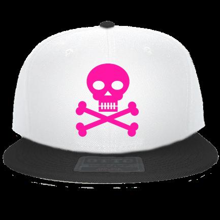9db664bb Pink Skull - Custom Heat Pressed Snapback Flat Bill Hat - 125-978  C3A1DBBFC01A