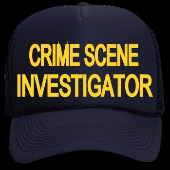 crime scene investigator neon trucker hat neon