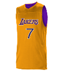 WalkerWALKER7WALKER7WALKERWALKER7WALKER7 Logan Los Angeles Lakers Youth Reversible Basketball Jerseys - A105LY-LAKERS