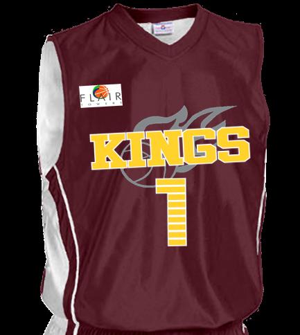 e9eaffc65210 KINGS-1-1 - Custom Heat Pressed Adult Reversible Dazzle Basketball Jersey -  1494 AC62C90365CD