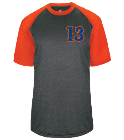 13-BURKHOLDER-13 - Custom Heat Pressed Adult Heathered Sport Tee - 4341 7F267836BD1D