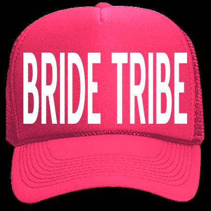 BRIDE tribe - Custom Heat Pressed Neon Trucker Hat  914cd907ac3