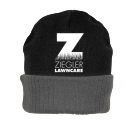 Ziegler LawnCare Hat - Custom Heat Pressed Knit Two Colored Beanie - R19 9630850D3E3B