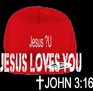Jesus ❤U - Foam Front Trucker Hat - 6005FF - Custom Heat