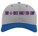 RUN - A - MUCK FAMILY FISH CAMP - Custom Heat Pressed Cotton Snapback Two Color Hat - 212 1531DF0E5A50