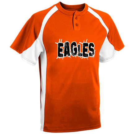 27e06fd11fd EAGLES - Custom Screen Printed Youth Line Drive 2-Button Baseball Jersey -  1200P 5C3210861383
