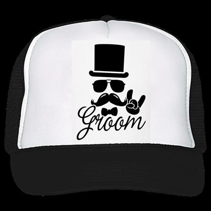 Groom - Trucker Hat 39-169 - Custom Heat Pressed - CustomPlanet.com 1483e6c2c1cc