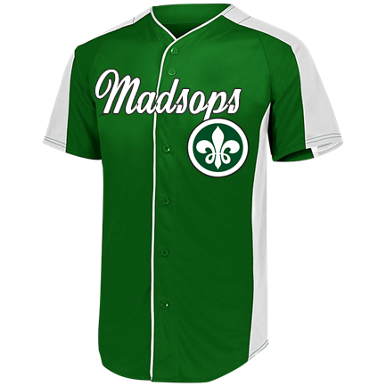 sale retailer 35d16 f7bdc Madsops-MYNWA-19 - Custom Screen Printed Adult Baseball Jersey - 1655