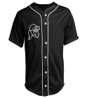 REZZ - Custom Heat Pressed Adult Full Button Baseball Jersey - N4184 F8606B5291A1