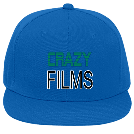 CRAZY-FILMS-RILEY - Custom Embroidered Flat Bill Fitted Hats 123-969