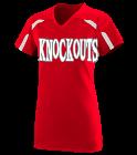 Knockouts- Girls V-Neck Softball Jersey