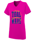 shirt LAKERS KOBE V NECK WOMENS T SHIRT HEAT APPLIED Ladies V-Neck Wicking Jersey