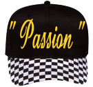 """ Passion ""-- flo-Flo Mack-F-. - Custom Embroidered Pro Style Pre Printed Otto Cap 56-082 11085BB9B669"