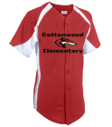 cottonwoodcoyotes - Custom Heat Pressed DISCONTINUED Youth Clutch Full Button Jersey - 1201B F5F0546D1D2E