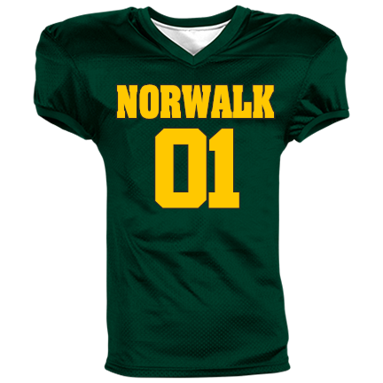 huge selection of d29df a758a NORWALK-01-PACKERS-01 - Custom Embroidered Youth Reversible Football Jersey  - 1367